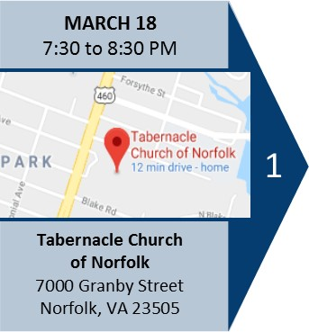 March 18 7:30 pm meeting at Tabernacle Church